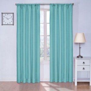 Set of 2 Eclipse Turquoise Blackout Curtain Panels